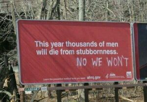 men stubborn