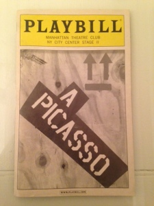 a picasso playbill