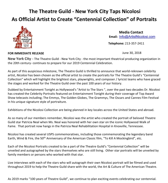 TG Centennial Press Release